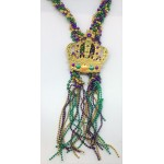 """60"""" Purple, Green, and Gold Braided Crown Bead"""