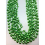"""48"""" 18mm Round Lime Green Beads"""