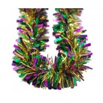"3"" X 9' Foil Garland Purple, Green and Gold"