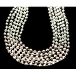 "33"" 7mm Global Beads Silver"