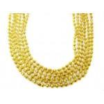 "33"" 7mm Global Beads Gold"