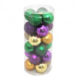 50MM Round Ornaments Purple, Green and Gold