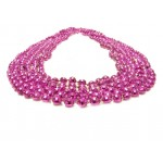"33"" 7mm Global Beads Hot Pink"